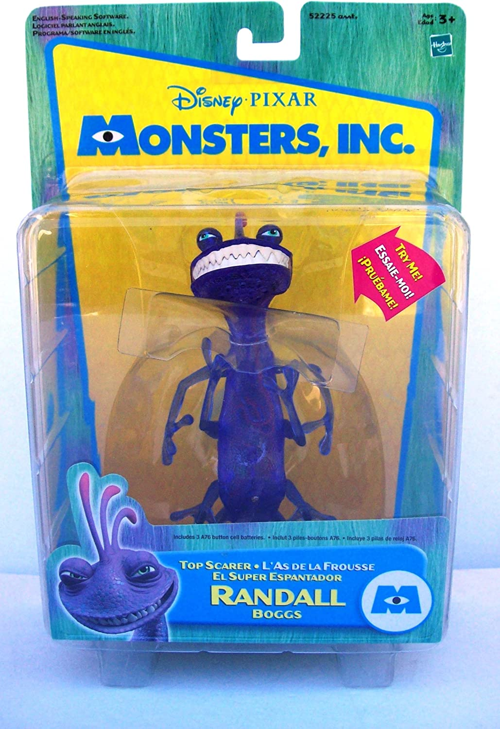 Monsters Inc Top Scarer Randall Boggs Action figure by hasbro