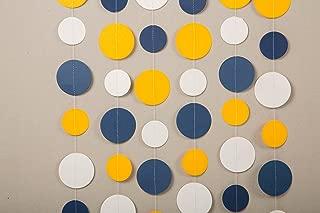 Paper garland, Birthday decorations,Dutch wedding garland , Birthday party garland, yellow,blue and white garland