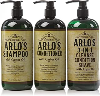 Arlos Mens Complete Hair and Face Cleansing 3 Piece Set