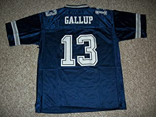 Unsigned Michael Gallup #13 Dallas Custom Stitched Blue Football Jersey Various Sizes New No Brands/Logos