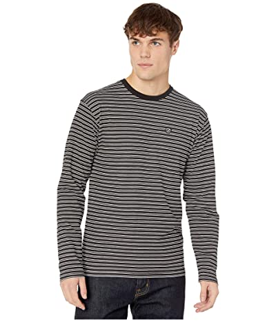Vans Striped Long Sleeve T-Shirt (Black/White) Men