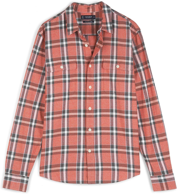 Lucky Brand Men's Long Sleeve Button Up Flannel Humboldt Workwear Shirt