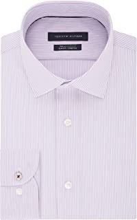 Tommy Hilfiger Men's Dress Shirt Slim Fit Non Iron Stretch Stripe