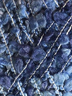 Dark Horse Yarns Boucle #13 Blue Jeans - Blues from Blue-Off-White to Denim Wool Blend 100 Gram 87 Yards