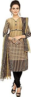 Minu salwar Cotton Printed Suit sets Brown(Chkshandloom_1004)