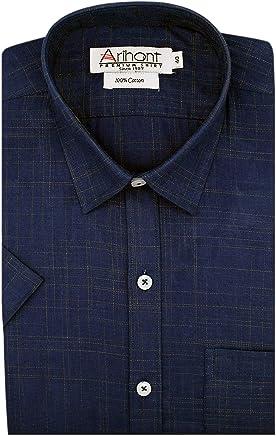 Arihant Plain 100% Cotton Half Sleeve Regular Fit Formal Shirt for Men