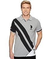 U.S. POLO ASSN. Short Sleeve Classic Fit Fancy Pique Polo Shirt