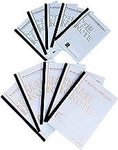 【Amazon.co.jp 限定】中村印刷所 水平開きノート A5 方眼5mm 30枚 本文フールス紙 白色 5冊+B5 横罫7mm 40枚 5冊 10冊セット