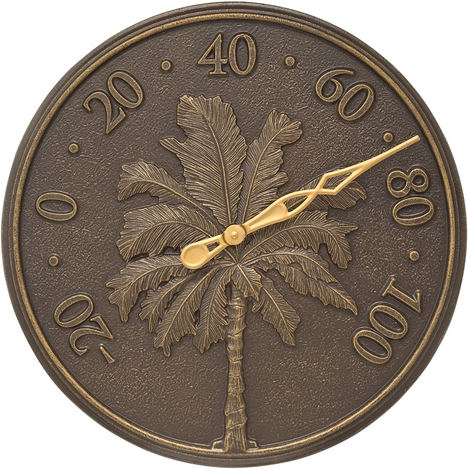 Whitehall Single Palm 16  Thermometer French Bronze