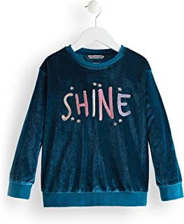 Marca Amazon - Red Wagon Shine Embroidered, Sudadera para Niñas