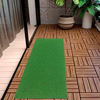 "Ottomanson Evergreen Collection Indoor/Outdoor Turf Solid Design Runner, 20""x59"""