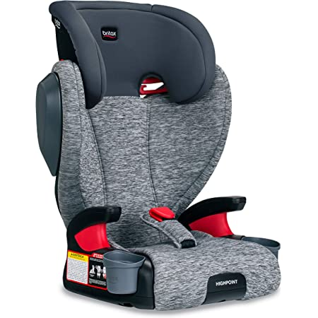 Britax Highpoint 2-Stage Belt-Positioning Booster Car Seat - Highback and Backless | 3 Layer Impact Protection - 40 to 120 Pounds, Asher