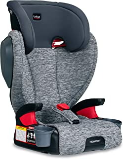 Britax Highpoint 2-Stage Belt-Positioning Booster Car Seat - Highback and Backless - 3 Layer Impact Protection - 40 to 120 Pounds, Asher