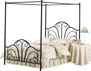 Hillsdale Furniture 348BFPR Hillsdale Dover Full Canopy Bed, Textured Black