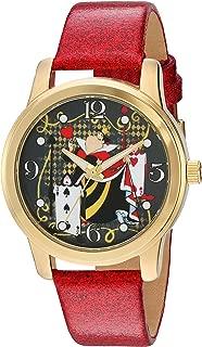 Disney Women's 'Alice in Wonderland' Quartz Metal Watch, Color:Red (Model: W003142)