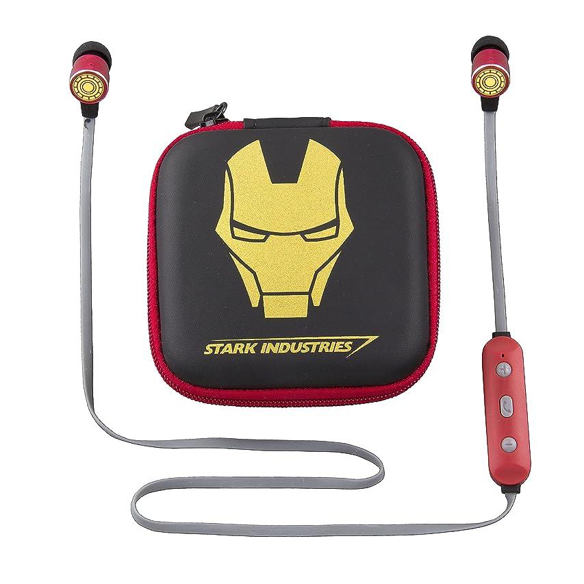 民間人ワンダー放送Avengers アイアンマン Bluetoothワイヤレスイヤホンとトラベルケース ハンズフリー通話と調節可能なボリュームコントロール付き