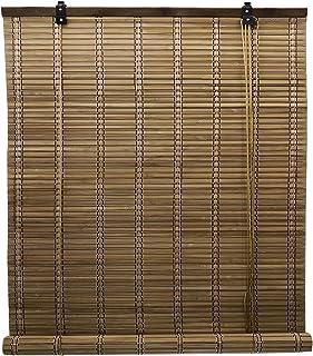 Solagua 6 Modelos 14 Medidas de estores de bambú Cortina de Madera persiana Enrollable (110 x 175 cm, Marrón)