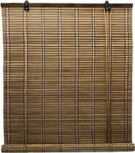 Solagua 6 Modelos 14 Medidas de estores de bambú Cortina de Madera persiana Enrollable (60 x 135 cm, Marrón)