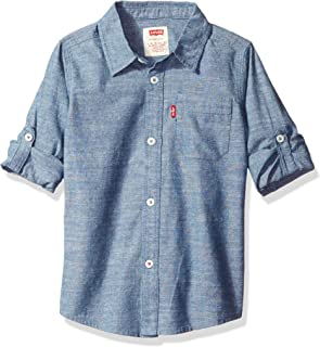 Levi's Boys' Big Long Sleeve One-Pocket Shirt