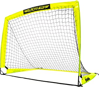 "Franklin Sports Blackhawk Portable Soccer Goal - Pop-Up Soccer Goal and Net - Indoor or Outdoor Soccer Goal - Goal Folds For Storage - 12'x6', 9'x5.6', 6.5'x3.25"" or 4'x3' Soccer Goal"