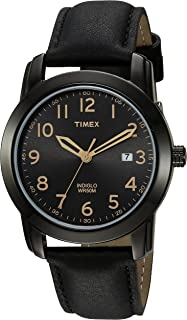 Timex Men's TW2R29800 Highland Street Black Leather Strap Watch