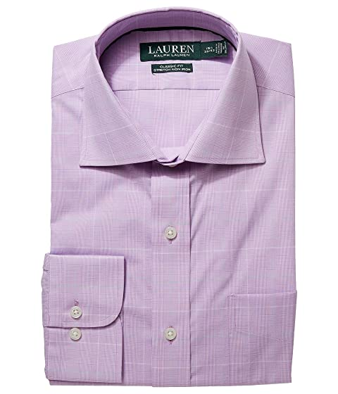 Clearance Outlet Locations Multi Coloured LAUREN Ralph Lauren Classic Fit No-Iron Cotton Dress Shirt Pale Plum/Fern Multi 100% Guaranteed Sale Online Clearance How Much Outlet Enjoy 7Oyw1r