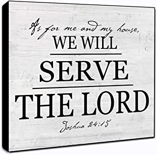 "LACOFFIO As for Me and My House We Will Serve The Lord Wall Decor Plaque 6"" x 6"