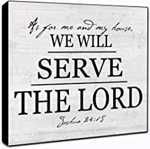 """LACOFFIO As for Me and My House We Will Serve The Lord Wall Decor Plaque 6"""" x 6"""