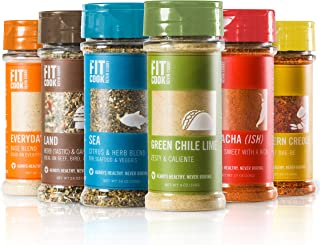 The Fit Cook Spice and Seasoning Set: Gluten & Grain Free, Vegan & Keto Friendly Spice Kit - 6 Health-conscious Hand-Craft...