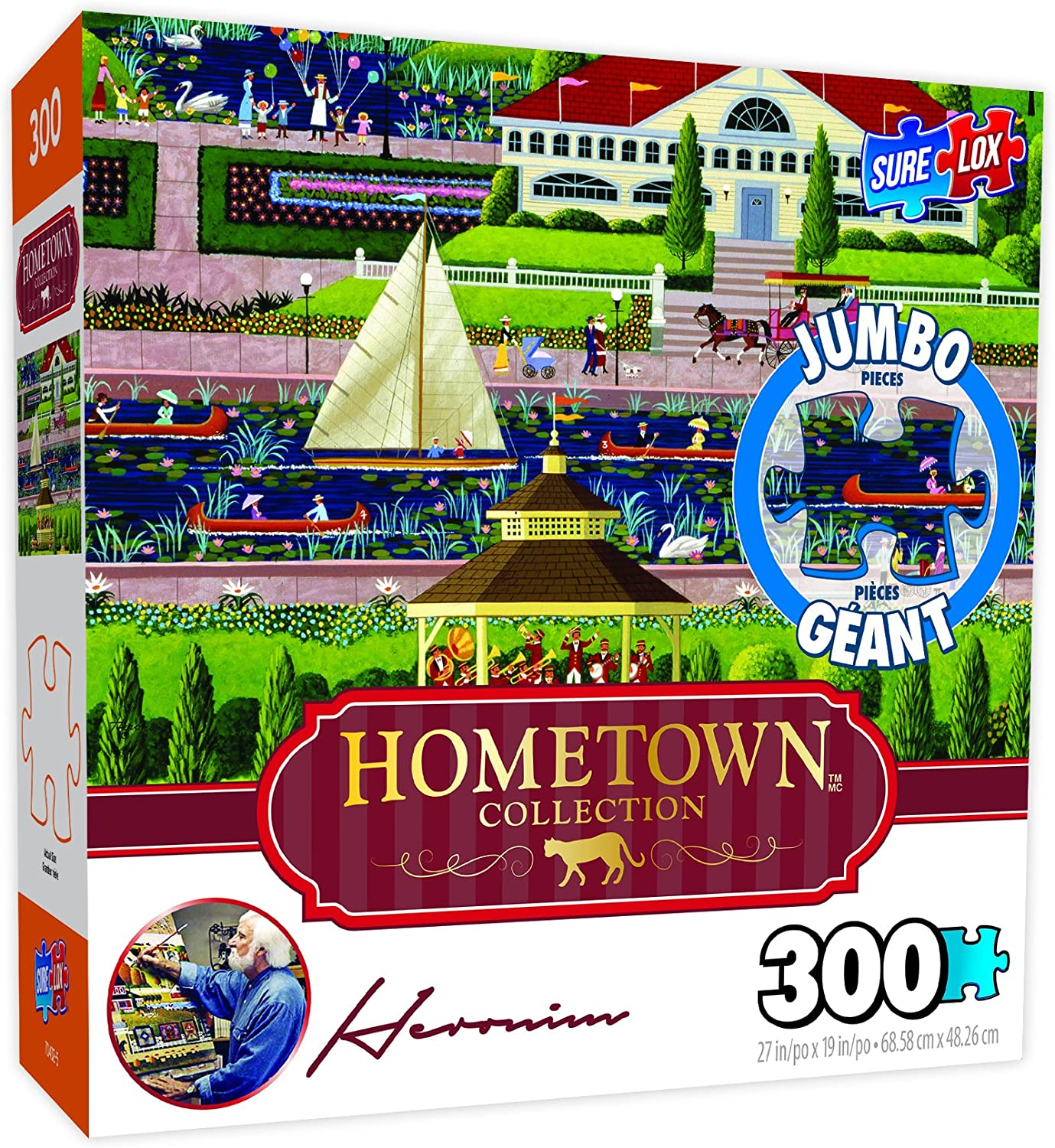 Surelox Hometown Collection Sunday in The Park Jigsaw Puzzle (300 Piece)