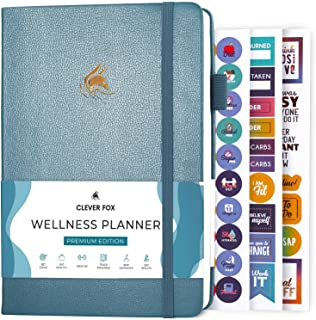 Clever Fox Wellness Journal - Weekly & Daily Health and Wellness Log, Food Journal & Meal Planner Diary for Calorie Counti...
