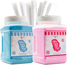 The Candery Cotton Candy Floss Sugar (2-Pack) Includes 100 Premium Cones | Raspberry Blue..