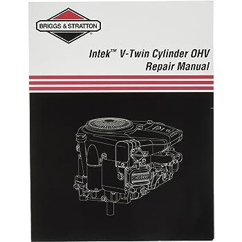 Amazon Com Briggs Stratton 273521 Intek V Twin Ohv Repair Manual Four Stroke Power Tool Engines Garden Outdoor