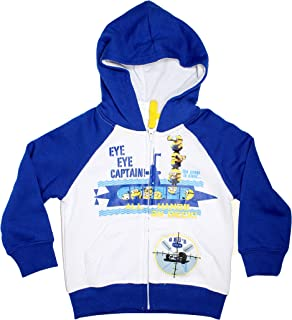Minions Official Boys Zipped Hoodie Sweater Age 3/8 Years