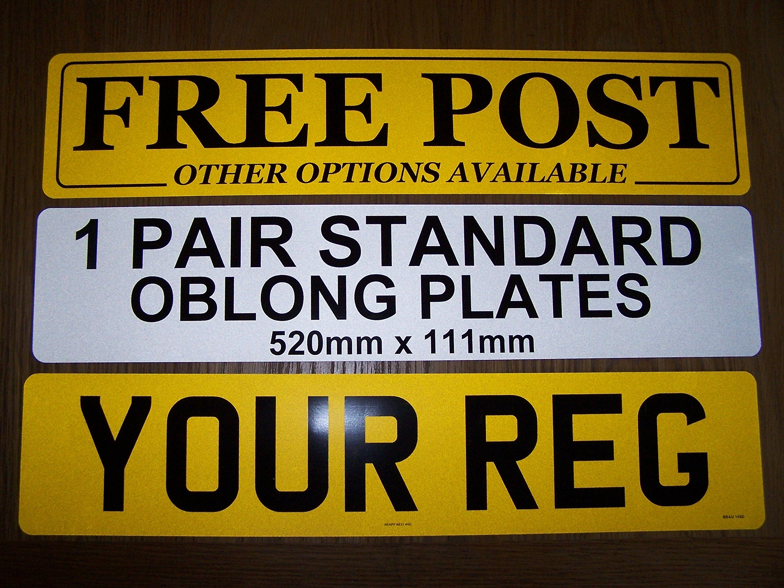 Front And Rear Number Plates - 100% UK Road Legal - MOT Compliant - DVLA  Authorised Dealer: Amazon.co.uk: Car & Motorbike