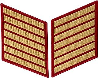 USMC Gold on Red Service Stripes, Male