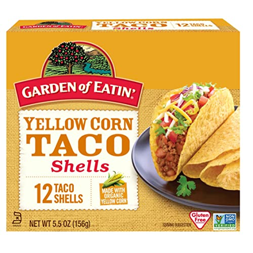 Garden of Eatin Yellow Corn Taco Shells, 12 Count (Pack of ...
