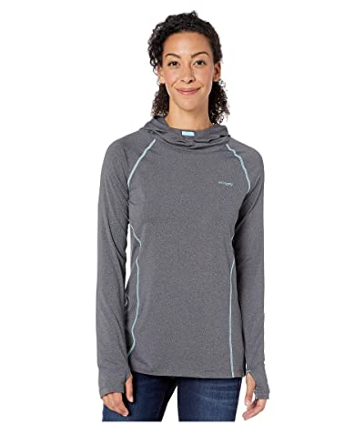 Columbia PFG Tamiamitm Heather Knit Hoodie (Black/Clear Blue) Women