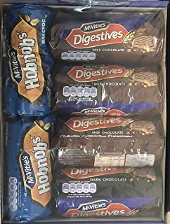 Mcvities Everyday Treats Pack (Mcvities Digestive Milk Chocolate x 3, Mcvities Digestive Dark Chocolate x 1, Mcvities Hobnob x 2)