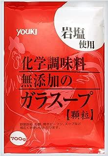 ユウキ 化学調味料無添加のガラスープ 700g