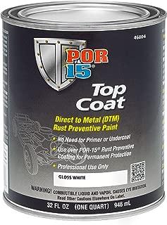 POR-15 46804 Top Coat Gloss White Paint, 32. Fluid_Ounces