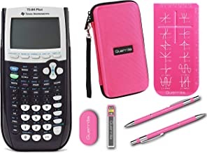 $139 » Texas Instruments TI-84 Plus Graphing Calculator + Guerrilla Zipper Case + Essential Graphing Calculator Accessory Kit (Pink)
