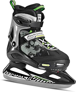 Rollerblade Bladerunner Kids Ice Skates, Black/Green, Size 2-5