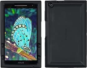 Bobj Rugged Case for ASUS ZenPad Z380, P022 (Z380C, Z380CX, Z380KL, Z380KNL, Z380M, P00A, P024) – BobjGear Custom Fit - Patented Venting - Sound Amplification - BobjBounces Kid Friendly (Bold Black)