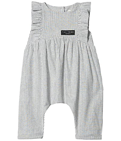 TINY TRIBE Stripe Frill Balloon Romper (Infant) (Assorted Color) Girl