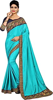 Sabaira Women's Sana Silk Sky Blue Zari Work Saree (SBRSA3231_Sky Blue_Free Size)