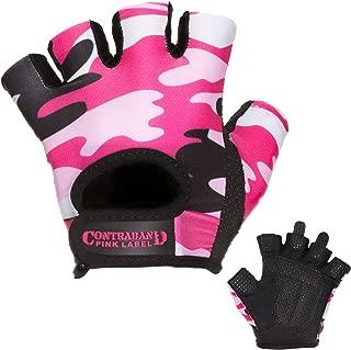 5217 Womens Design Series Camo Print Lifting Gloves (Pair) - Lightweight Vegan Medium Padded Microfiber Amara Leather w/Griplock Silicone