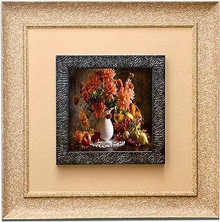 Wens 'Floral Bouquet' Wall Art Painting (PS Wood, 41 cm x 41 cm x 3.75 cm)