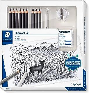 STAEDTLER 61 100C charcoal set with 6 Mars Lumograph black pencils, 3 Mars Lumograph charcoal pencils, 1 blending stump, 1...