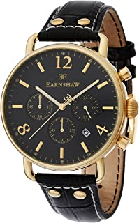 Thomas Earnshaw Men's ES-8001-01 Year-Round Analog Quartz Black Band Watch